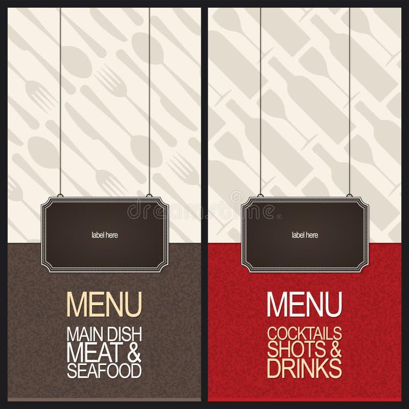 餐馆菜单设计 皇族释放例证