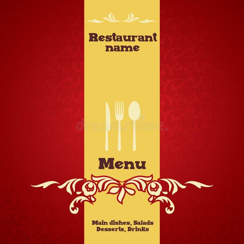 餐馆菜单设计 库存例证