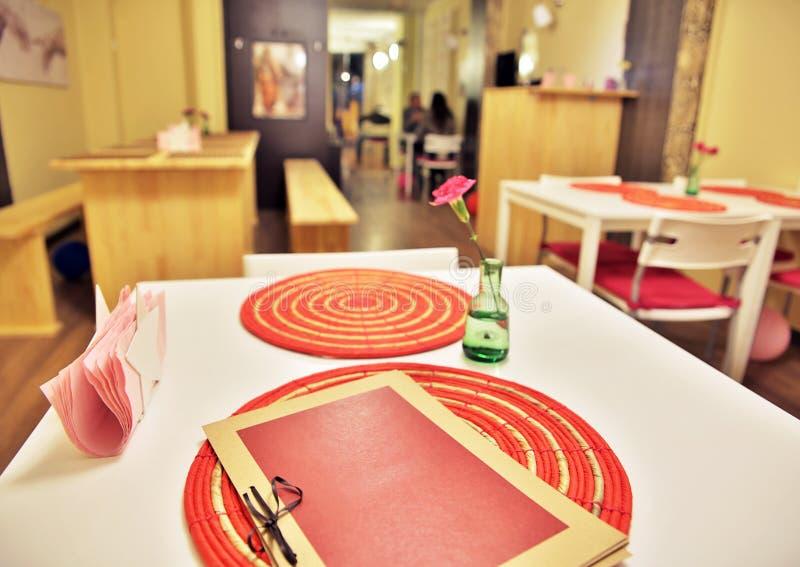 餐馆菜单 免版税库存照片