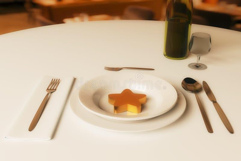 餐馆规定值概念 库存例证