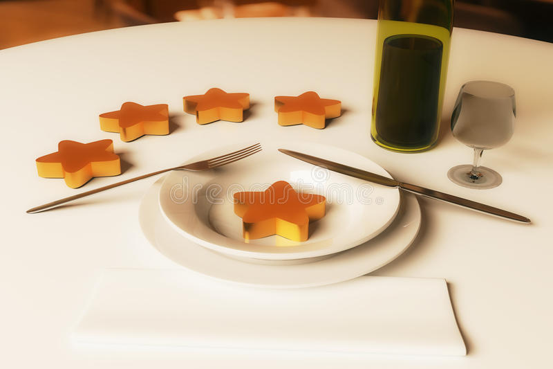 餐馆规定值概念 向量例证