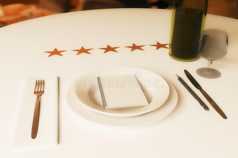 餐馆规定值概念 皇族释放例证