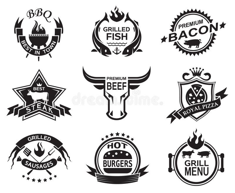 餐馆设计 向量例证