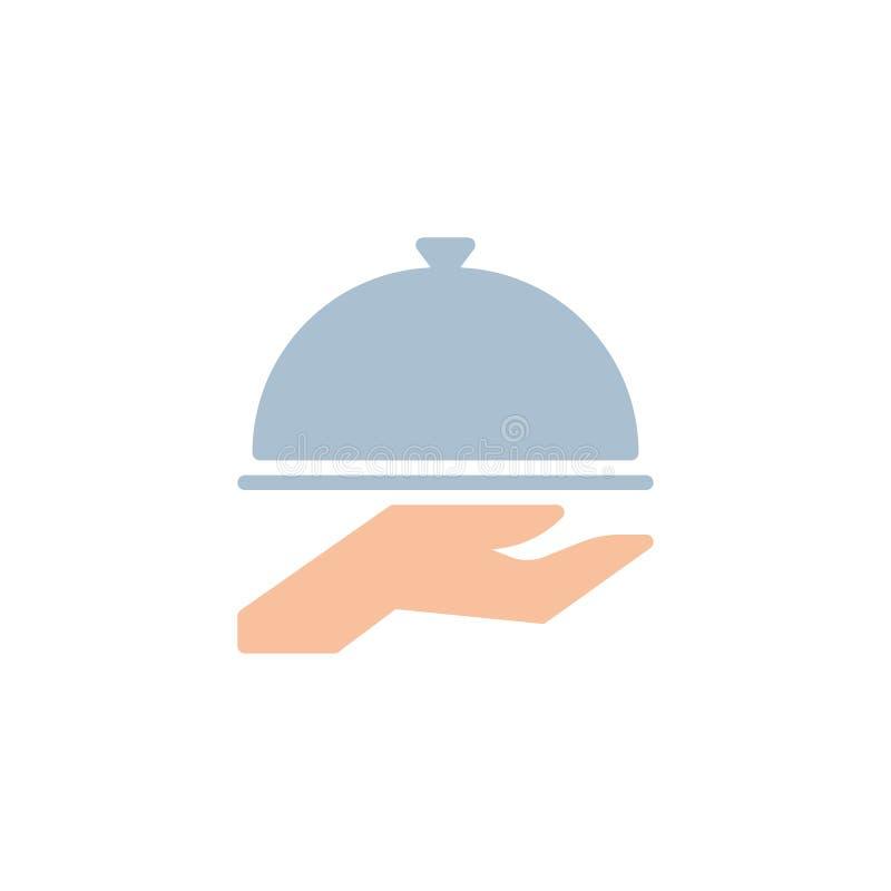 餐馆钓钟形女帽平的象 库存例证