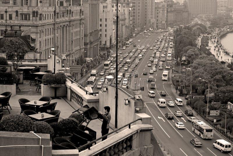 餐馆风景上海 免版税库存图片