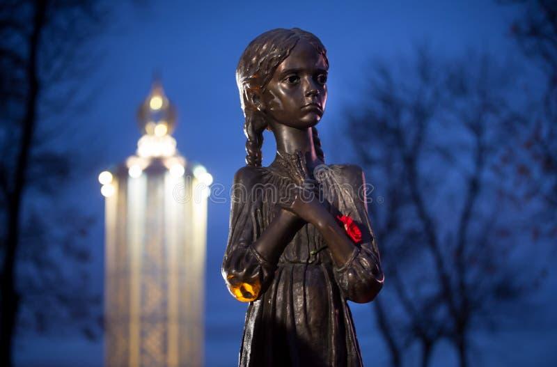1923-1933年饥荒种族灭绝的受害者的记念我 免版税库存图片