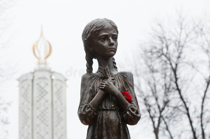 1923-1933年饥荒种族灭绝的受害者的记念我 库存照片