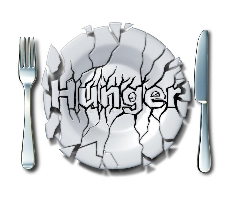 饥饿和贫穷概念 库存例证