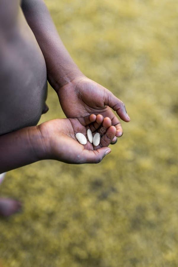 饥饿和贫穷在非洲 免版税库存照片