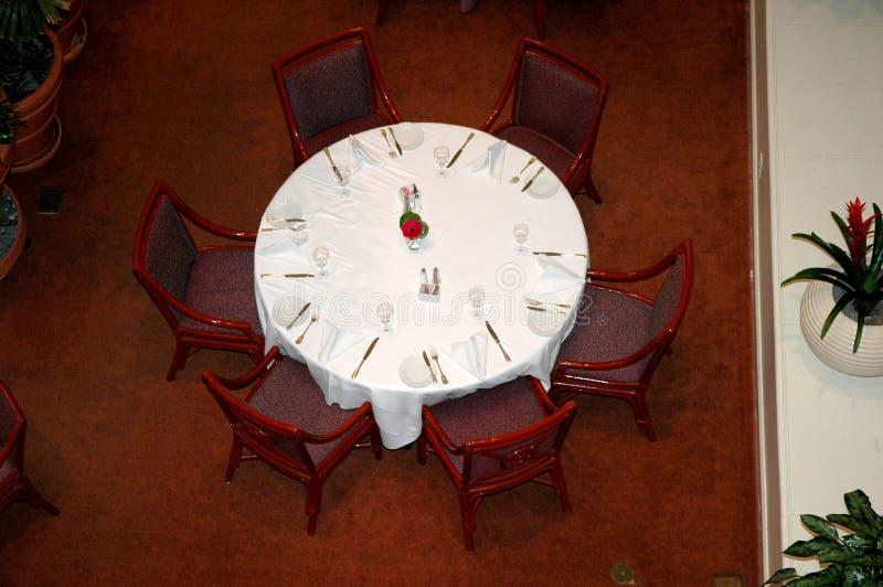 饭桌 免版税库存图片
