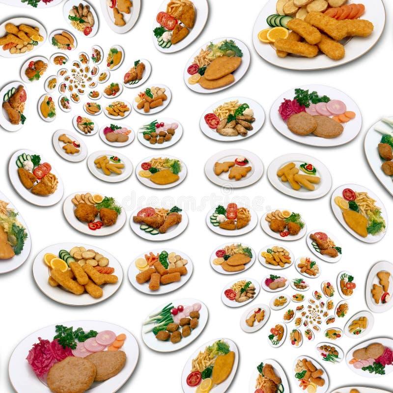 饭食大量 免版税库存图片