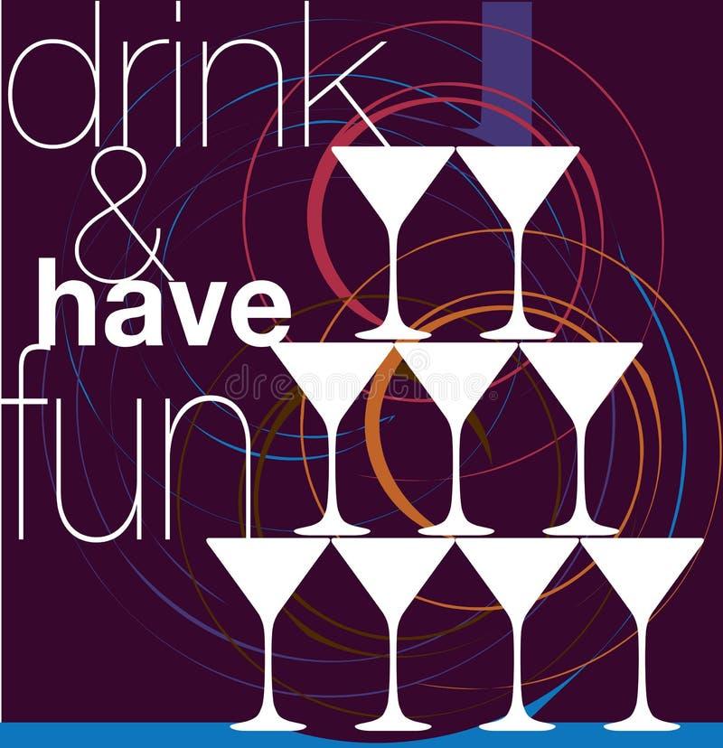 饮料乐趣有 向量例证