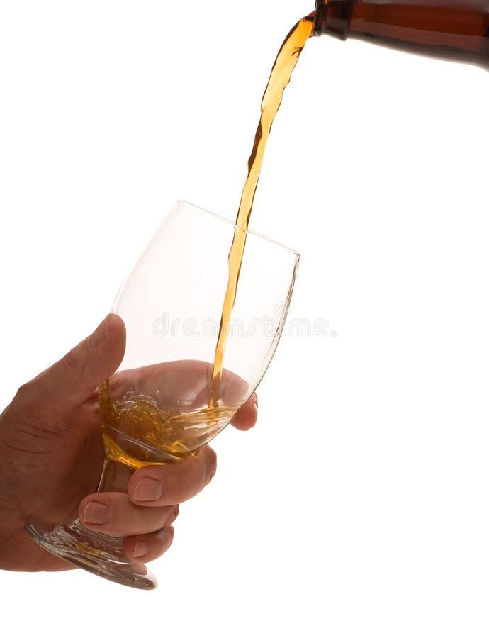 饮料倾吐 免版税图库摄影