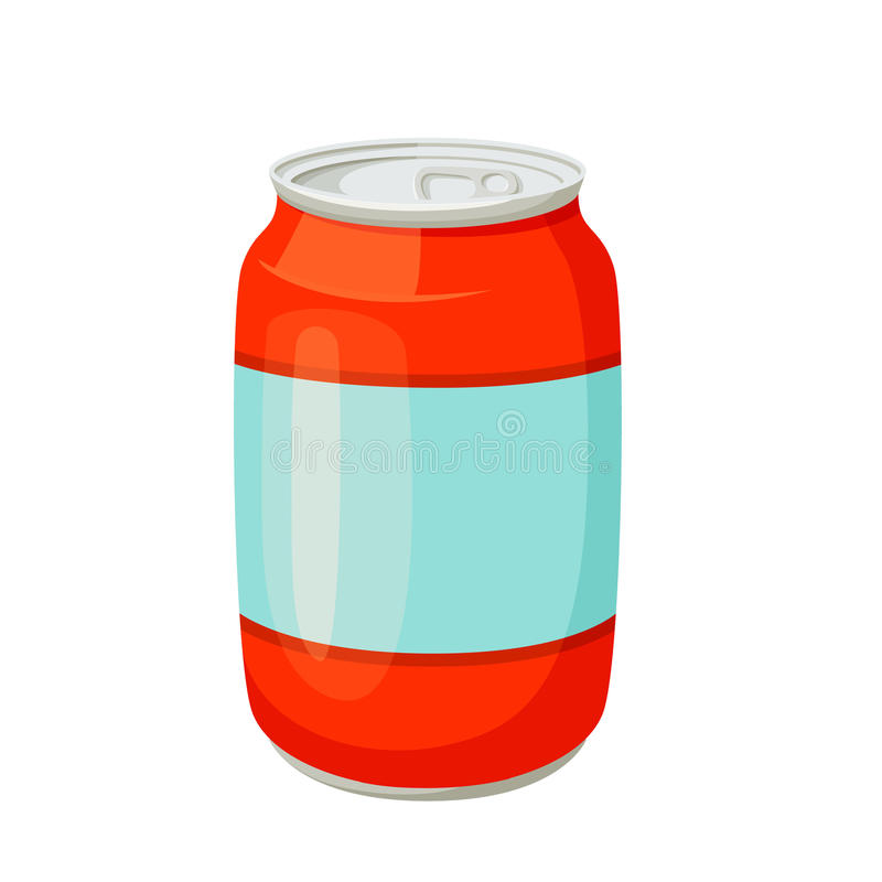 饮料和汽水罐 向量例证