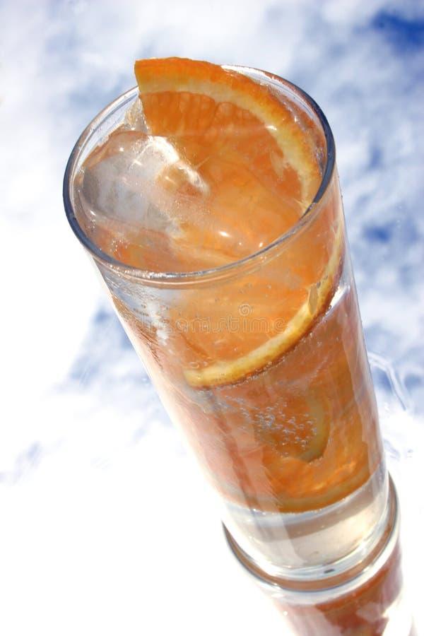 饮料桔子 库存图片