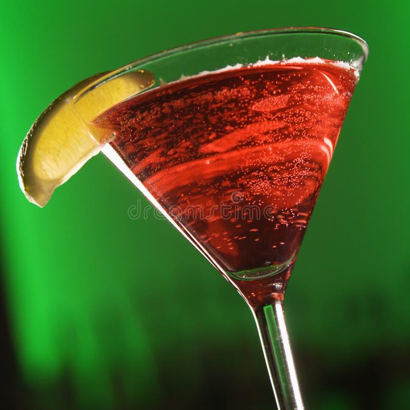 饮料混合的马蒂尼鸡尾酒 图库摄影