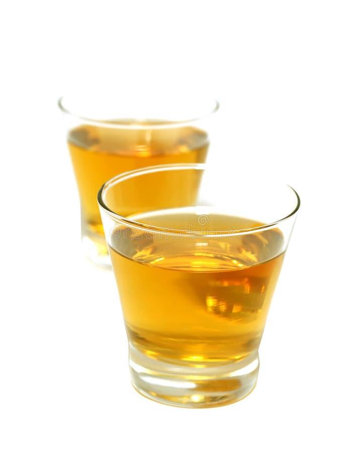 饮料玻璃查出二白色 库存图片