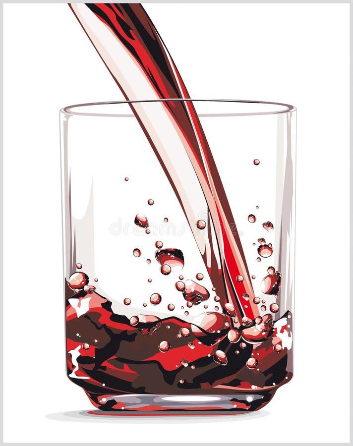 饮料红色 库存例证