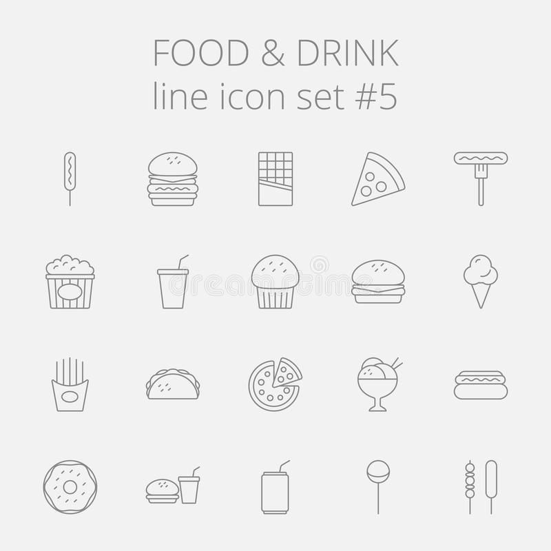 饮料食物图标集 向量例证