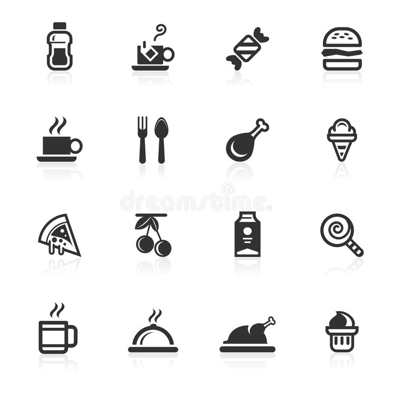 饮料食物图标minimo系列 库存图片