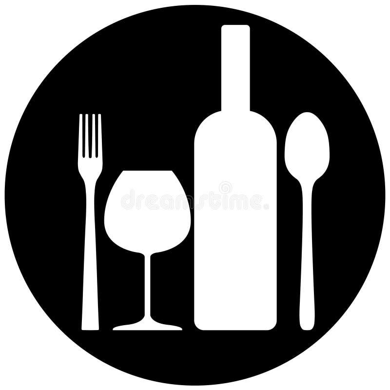 饮料食物符号 皇族释放例证