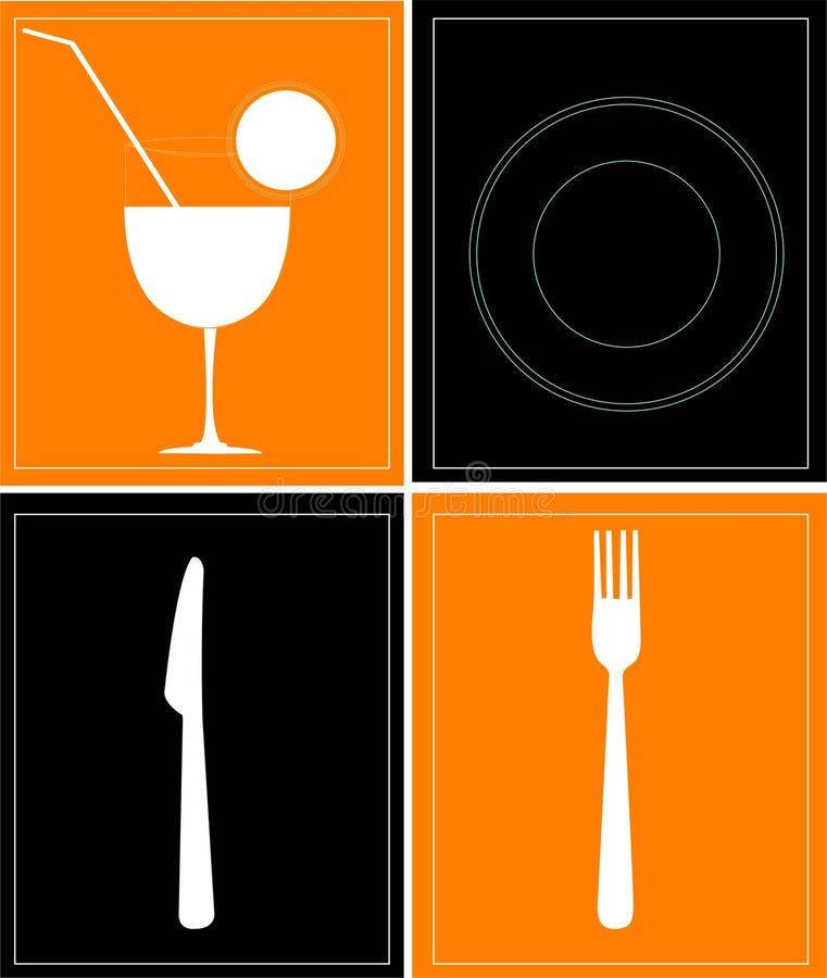 饮料食物 向量例证