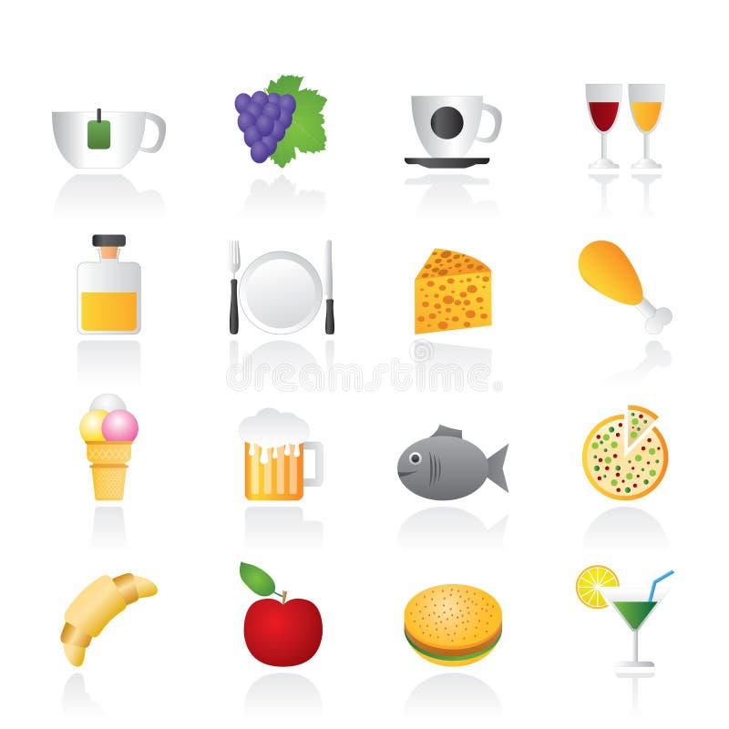 饮料饮料食物图标 皇族释放例证