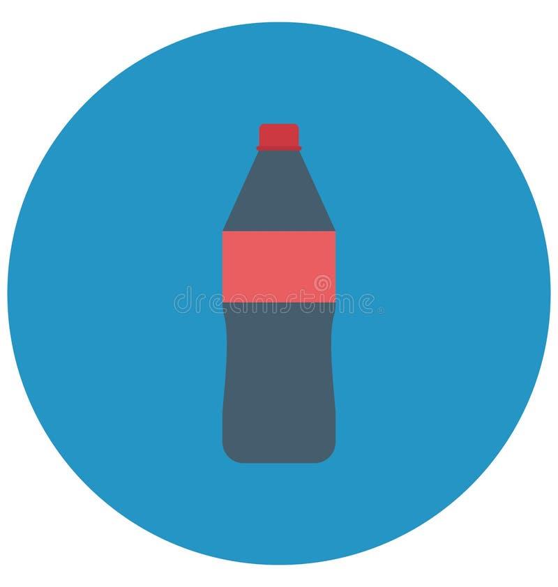 饮料,可口可乐隔绝了颜色可以容易地修改或编辑的传染媒介象 皇族释放例证