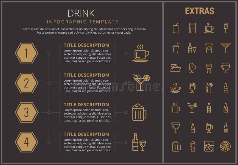 饮料infographic模板、元素和象 向量例证