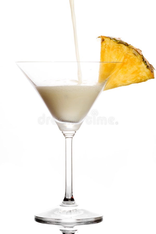 饮料pinacolada 免版税库存照片