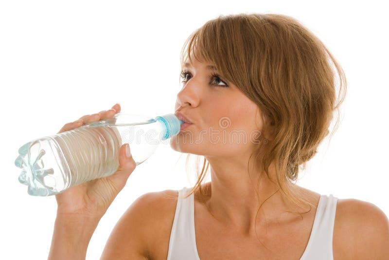 饮用水妇女 库存图片