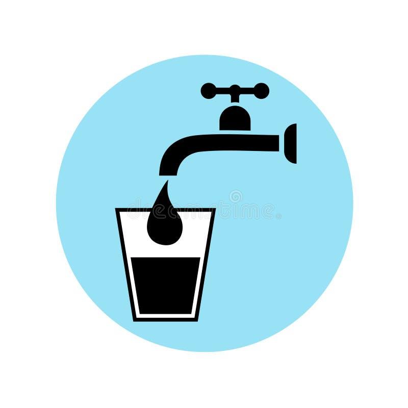 饮用水标志 向量例证