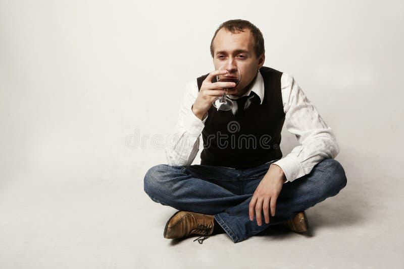 饮用的人 库存图片