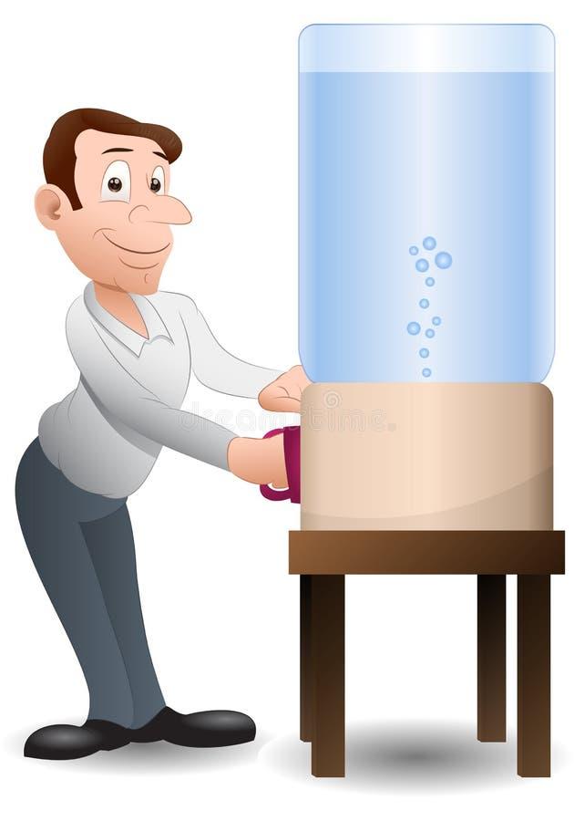 饮用的人水 向量例证