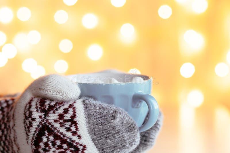 饮用的圣诞节可可粉 免版税图库摄影