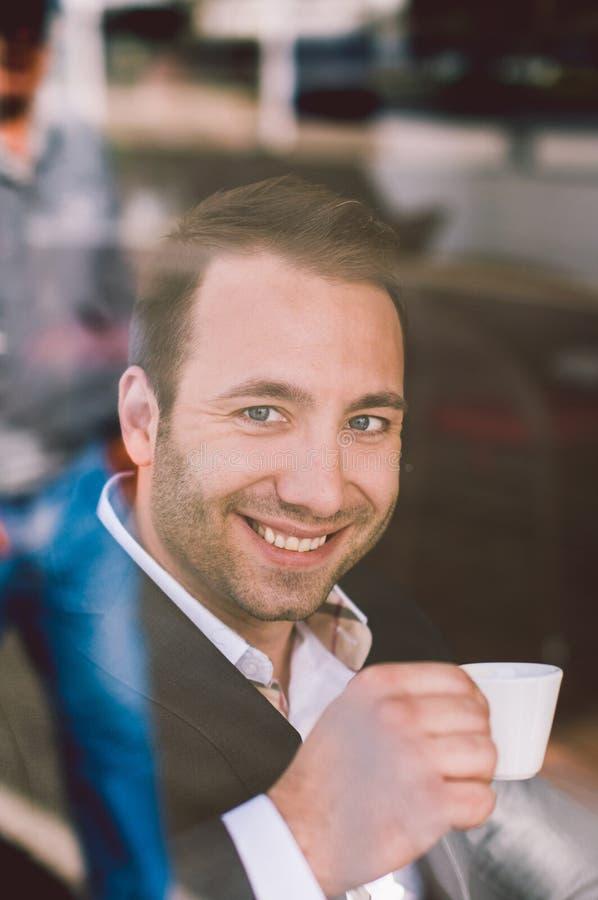 饮用的浓咖啡 库存照片