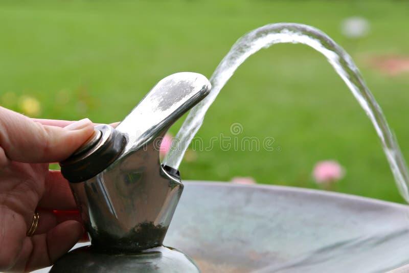 饮用的龙头喷泉水 库存图片