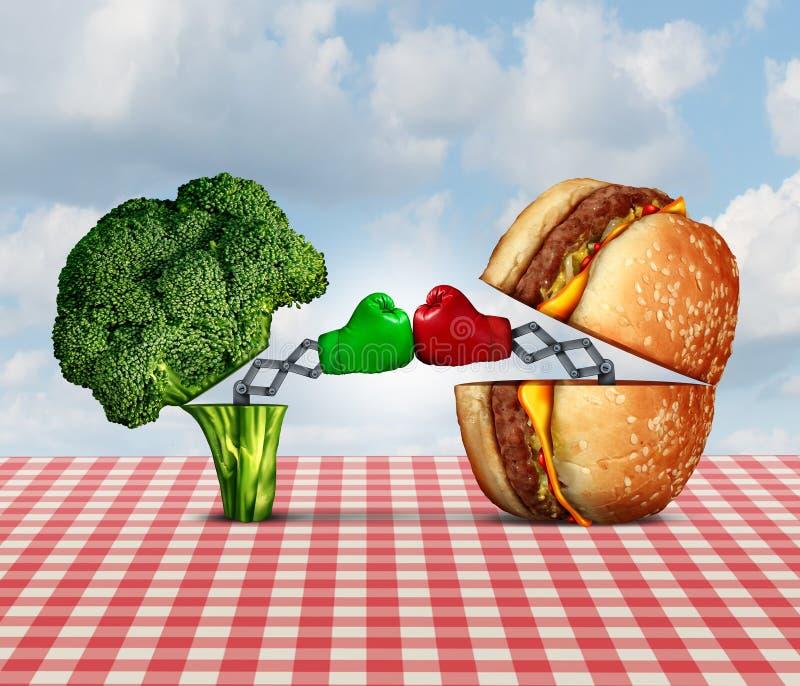 饮食争斗 向量例证