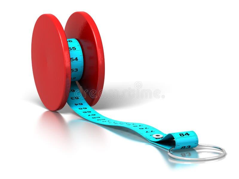 饮食作用损失重量傻瓜 库存例证