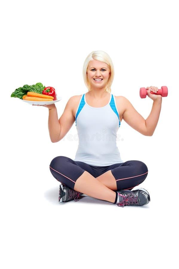 饮食和锻炼 免版税库存图片