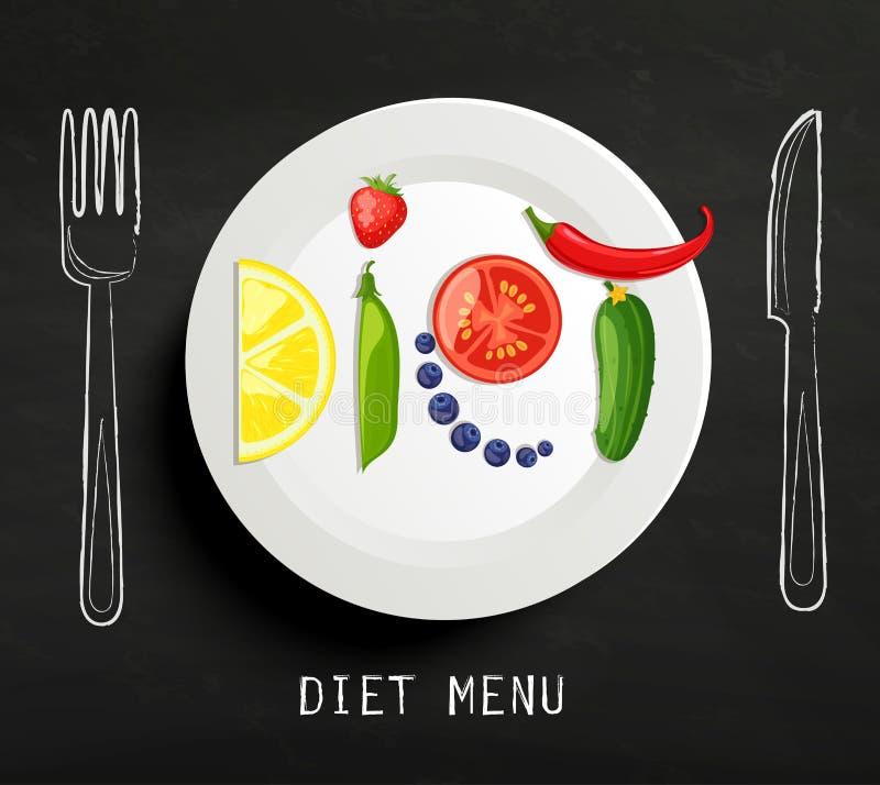饮食的概念 库存例证