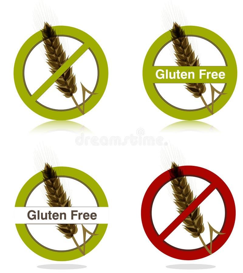 饮食自由面筋图标 向量例证