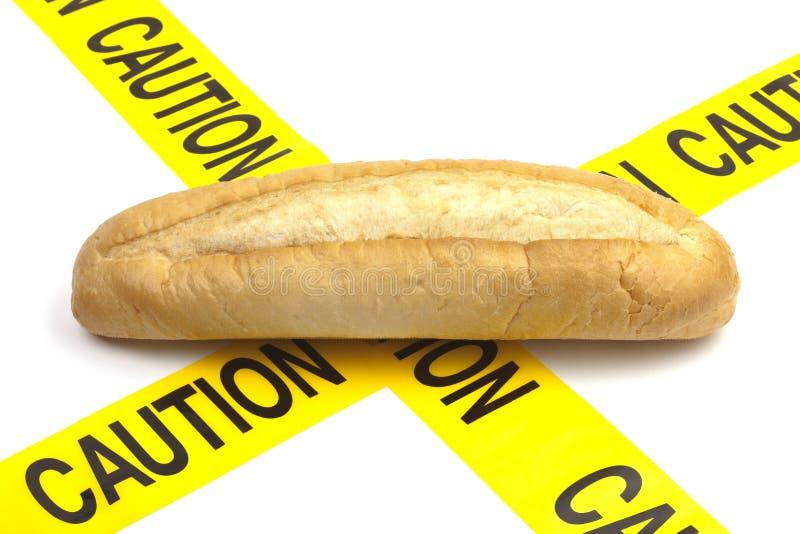 饮食警告或面筋/麦子过敏警告 库存照片