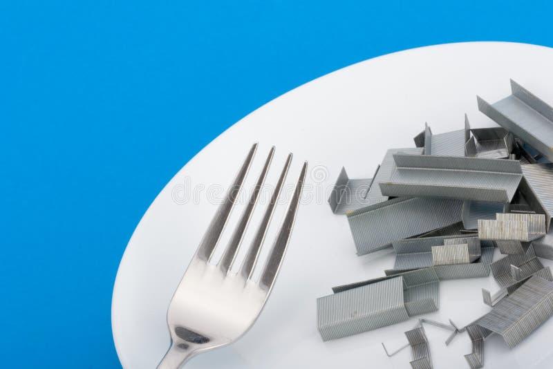 饮食钉书针 库存图片