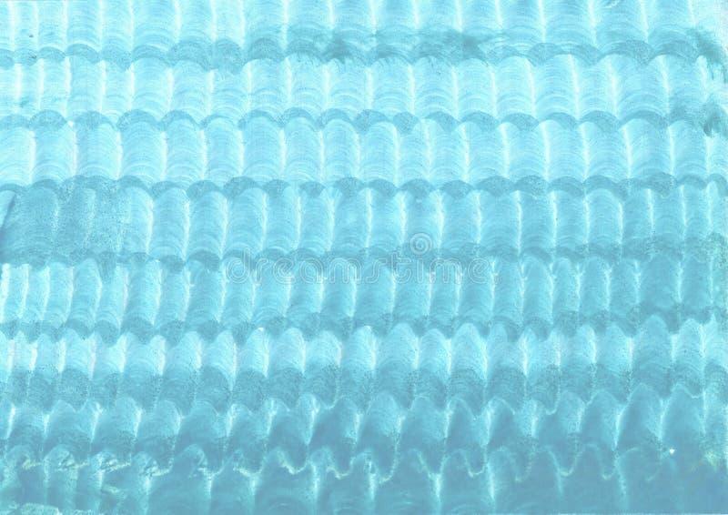 饱和的蓝色,蓝绿色背景 参差不齐的表面和纹理 皇族释放例证