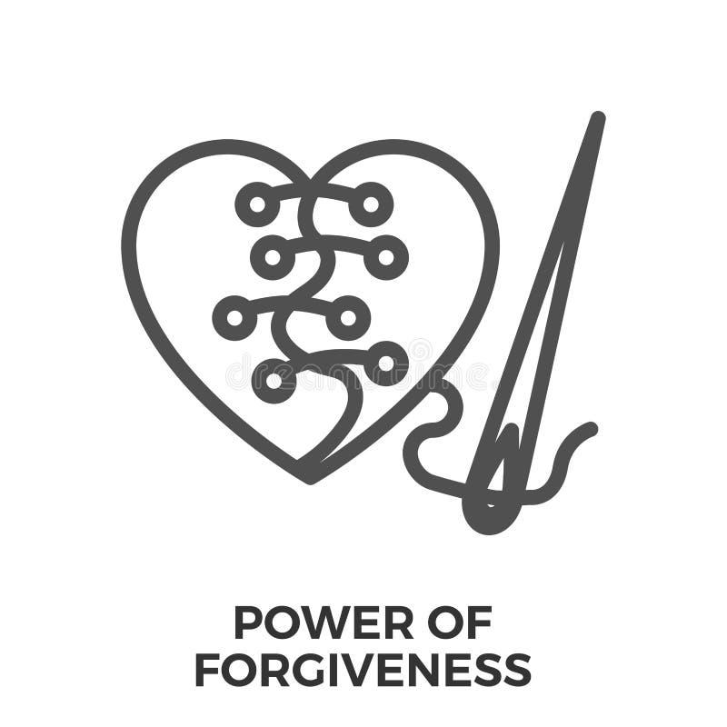 饶恕的力量 向量例证