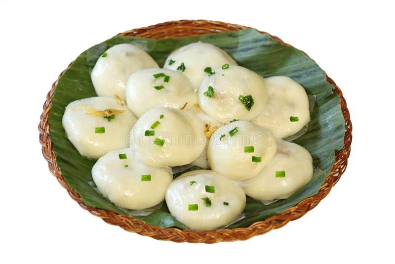 饺子米甜点 免版税库存图片