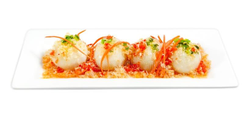 饺子米甜点 免版税图库摄影