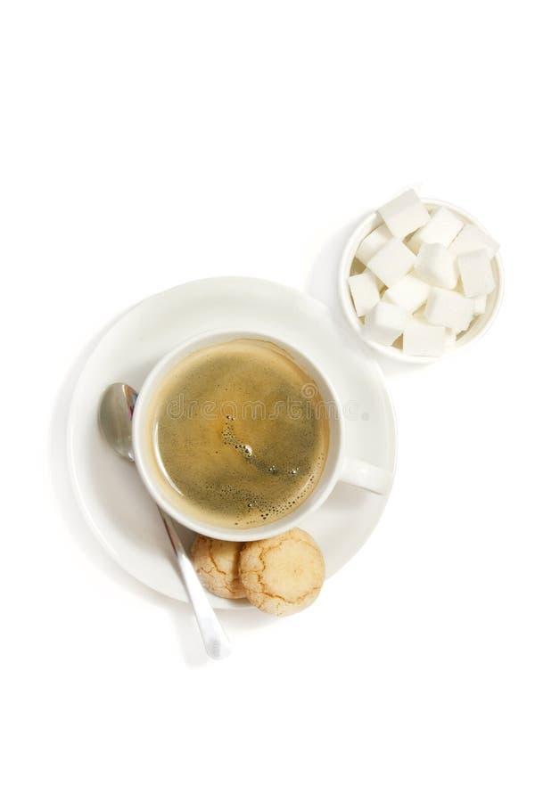 饼干咖啡白色 库存图片