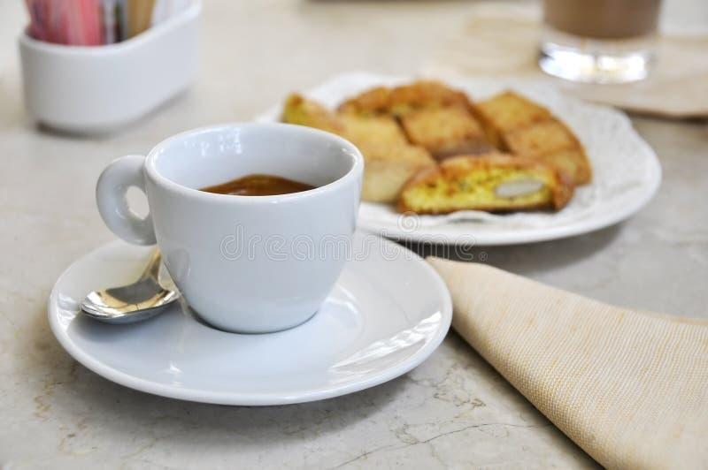 饼干咖啡馆浓咖啡 免版税库存图片